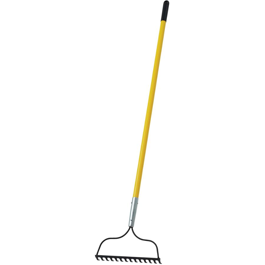 """Contractors Choice X-tra 14 Tines Bow Rake, with 54"""" Fiberglass Handle"""