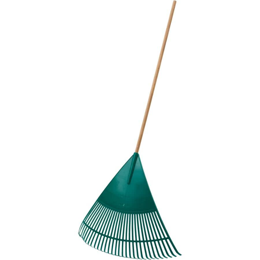 "Home Gardener 30 Tines 30"" Poly Fan Rake"