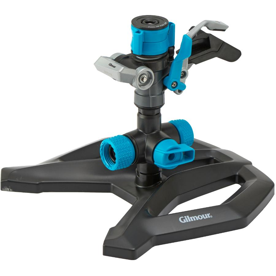 GILMOUR: Hybrid Impact Lawn Sprinkler, with Base