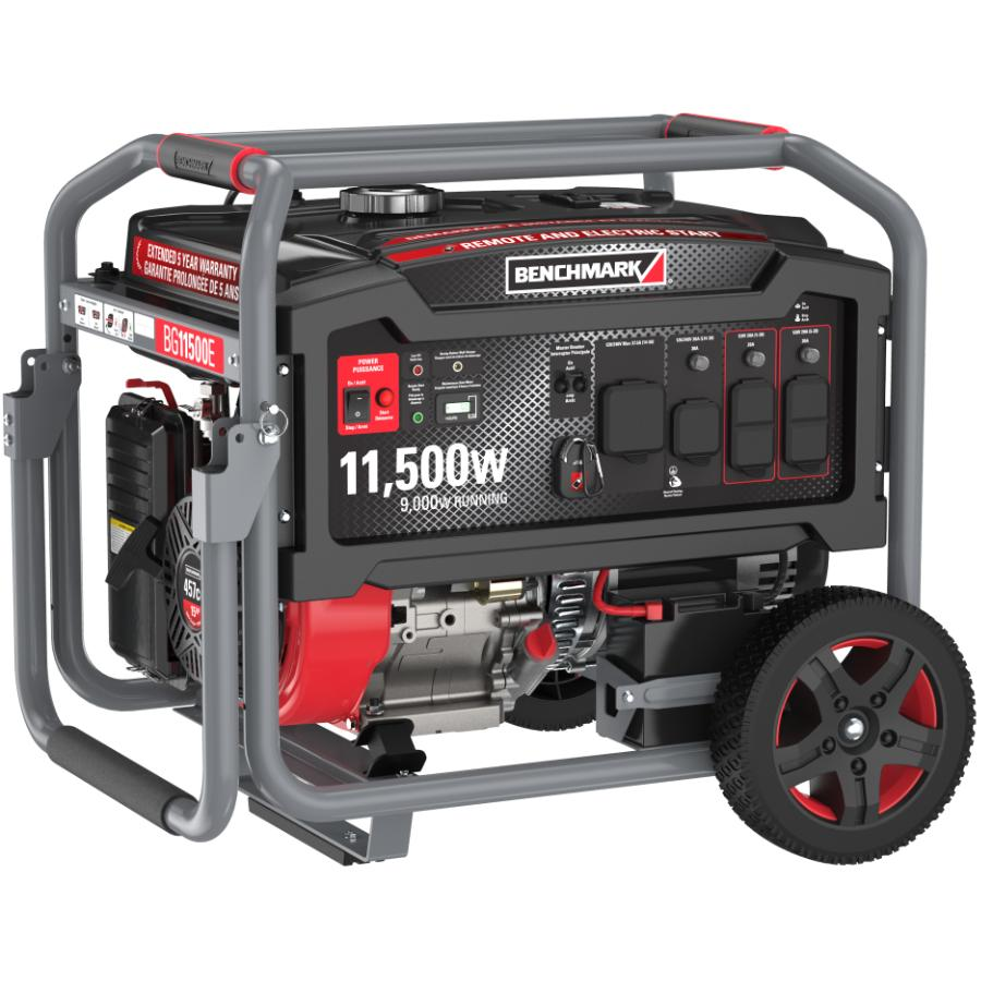 Benchmark Portable Gas Generator - with Remote Start, 11500W 76-80dB