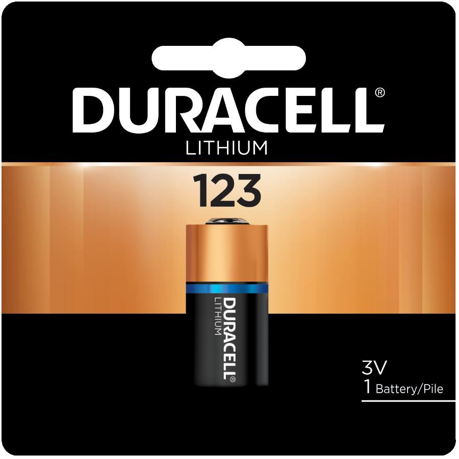 Duracell DL123A 3 Volt Lithium Camera Battery