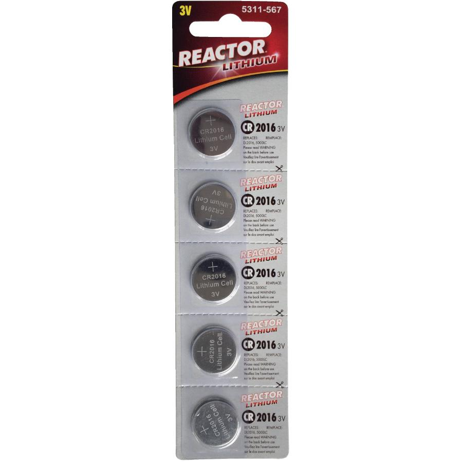 Reactor 5 Pack 3 Volt Lithium Watch and Electronics Batteries