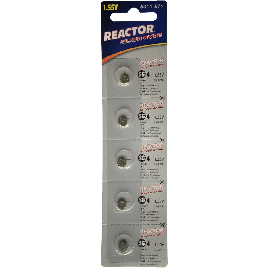 Reactor 5 Pack Watch and Electronics Batteries