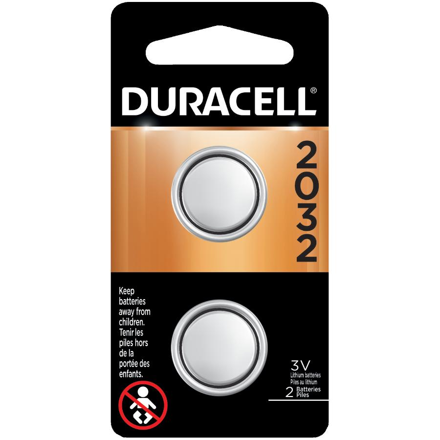 DURACELL 2 Pack 3 Volt Lithium Watch and Electronics Batteries