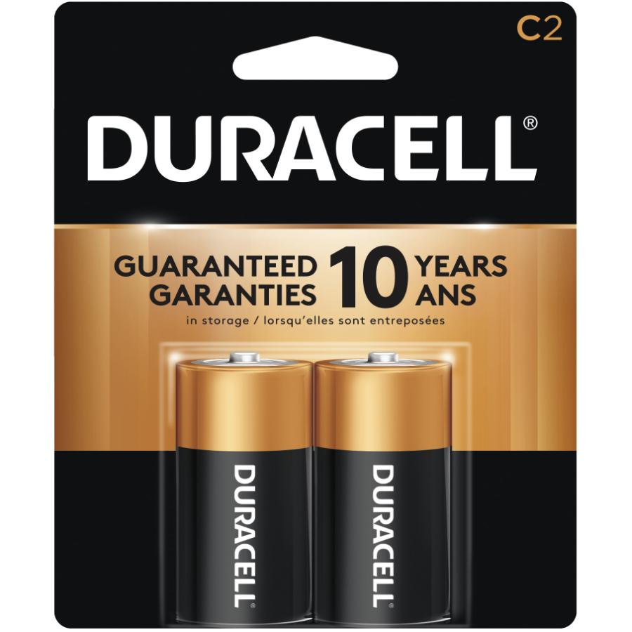Duracell 2 Pack Alkaline C Batteries