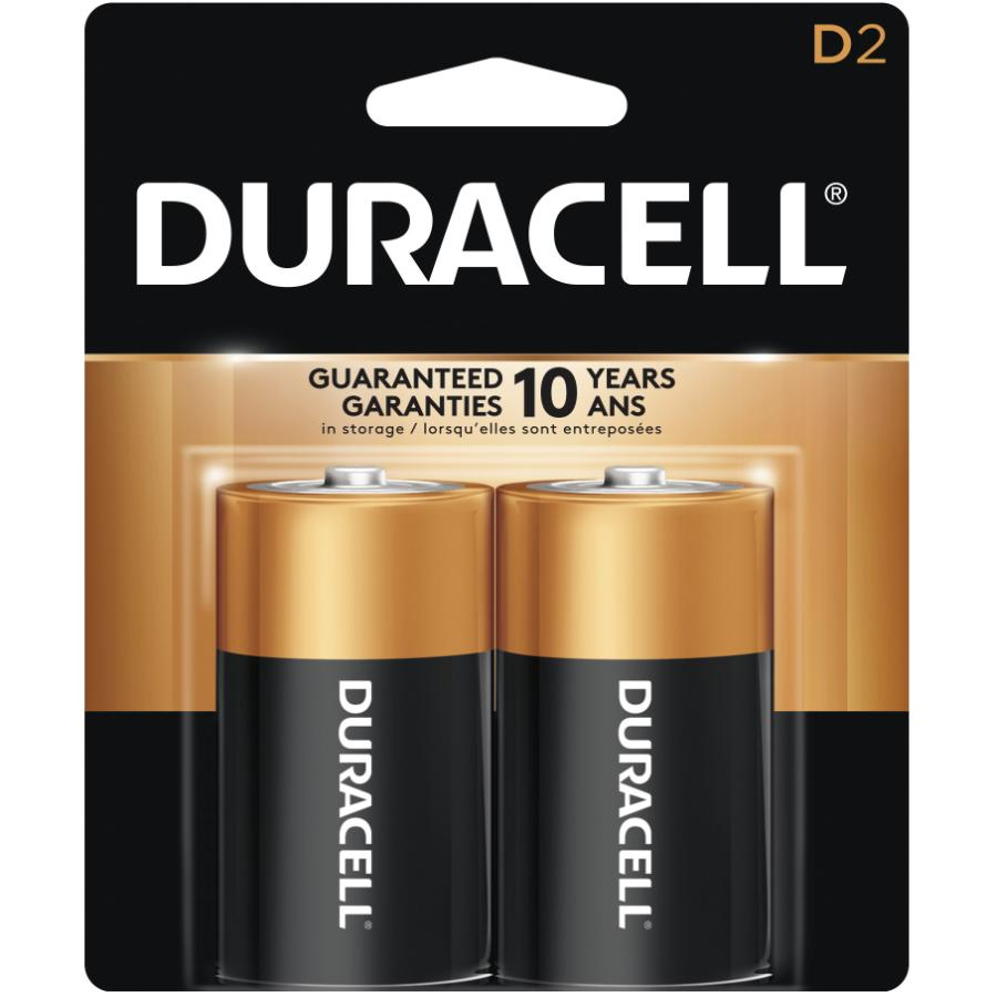 Duracell 2 Pack Alkaline D Batteries
