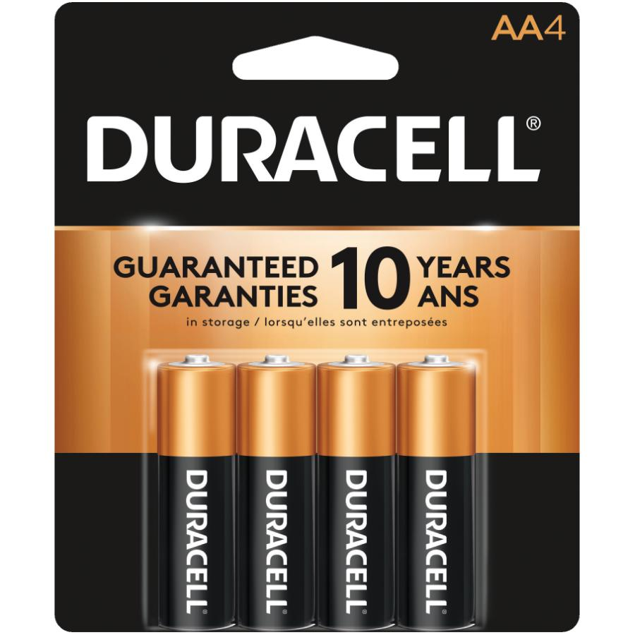 Duracell 4 Pack Alkaline AA Batteries
