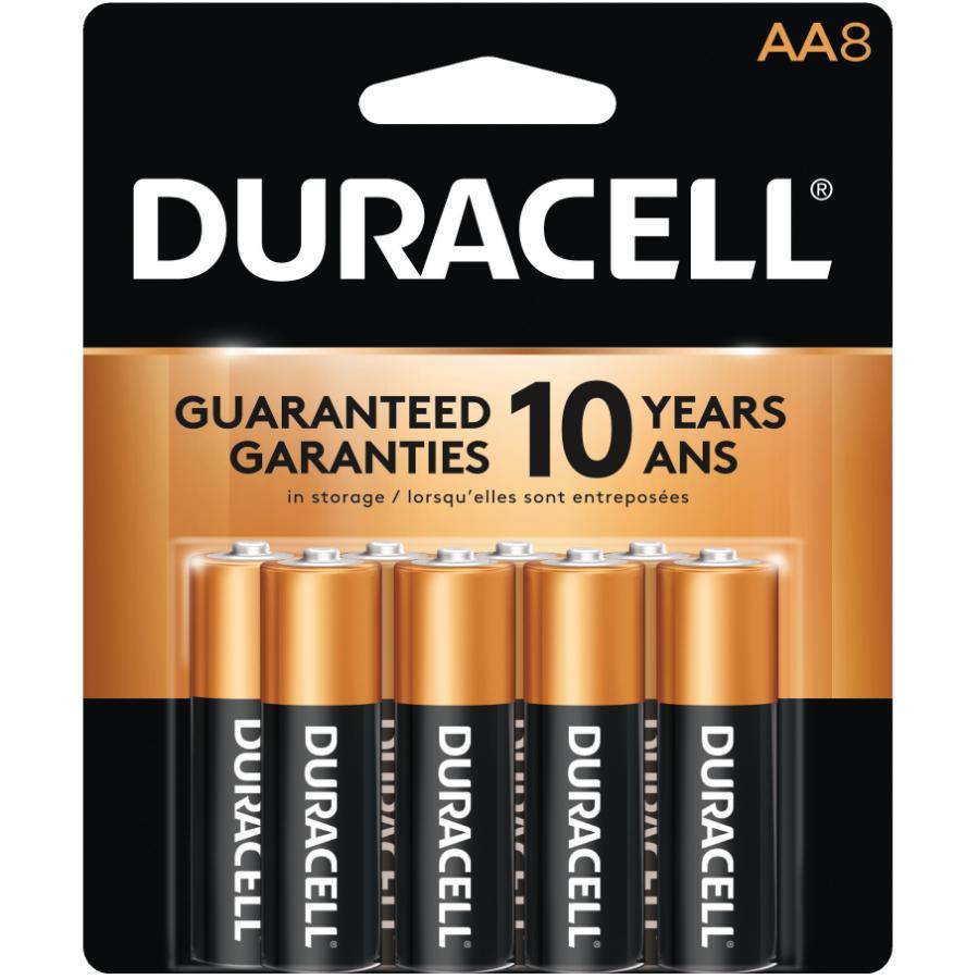 Duracell 8 Pack Alkaline AA Batteries