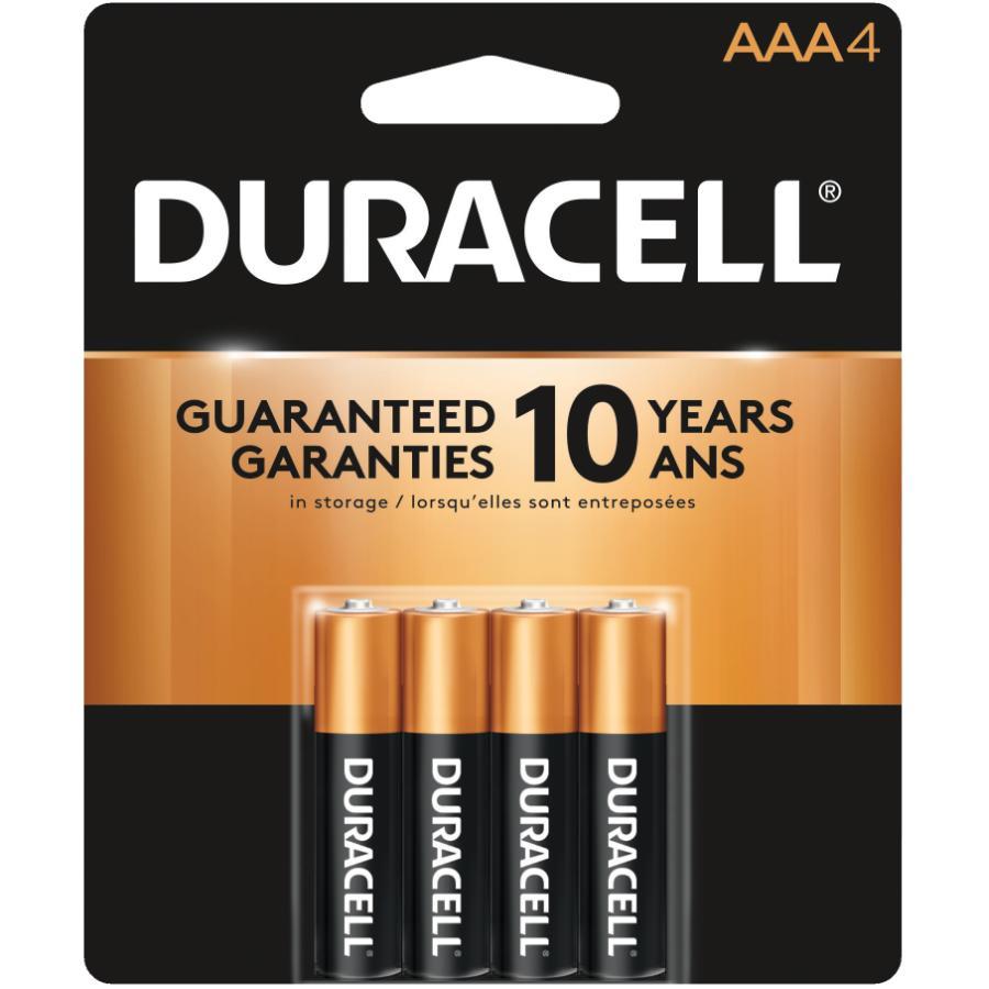 Duracell 4 Pack Alkaline AAA Batteries