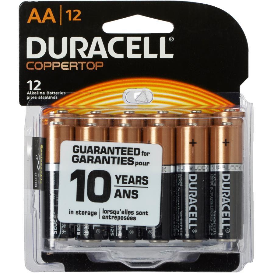 Duracell 12 Pack Alkaline AA Batteries