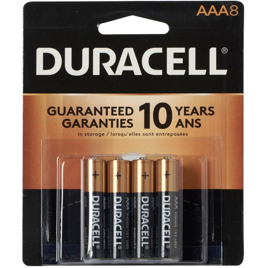 Duracell 8 Pack Alkaline AAA Batteries