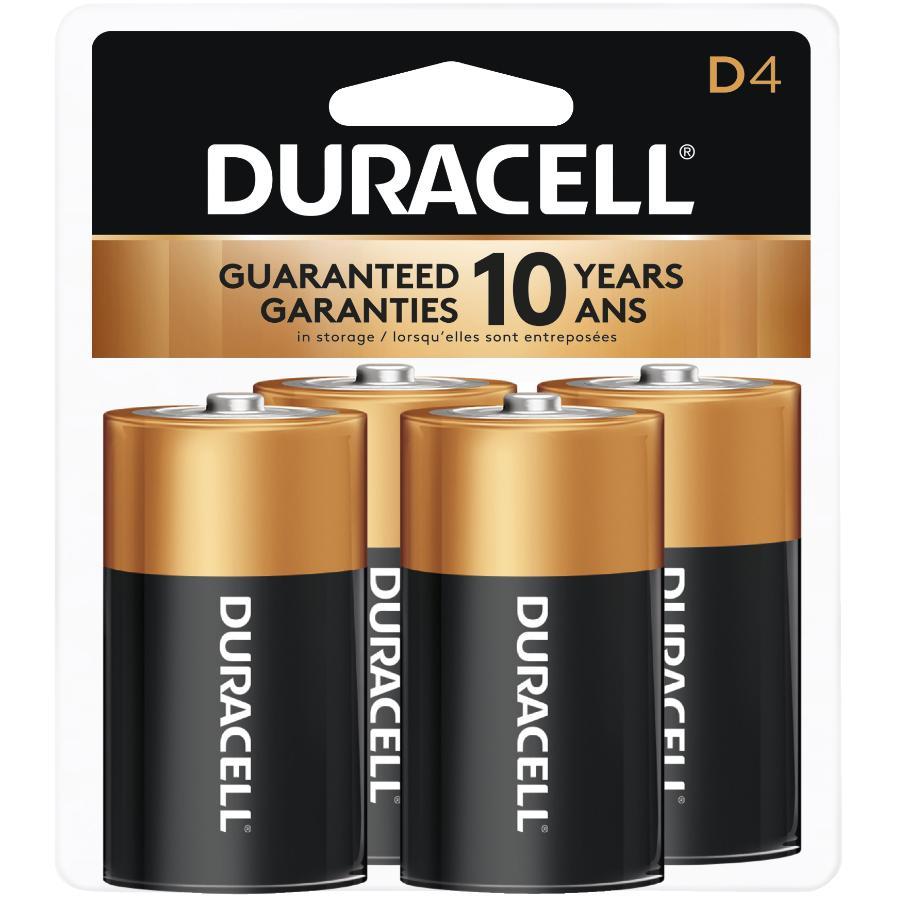 Duracell 4 Pack Alkaline D Batteries