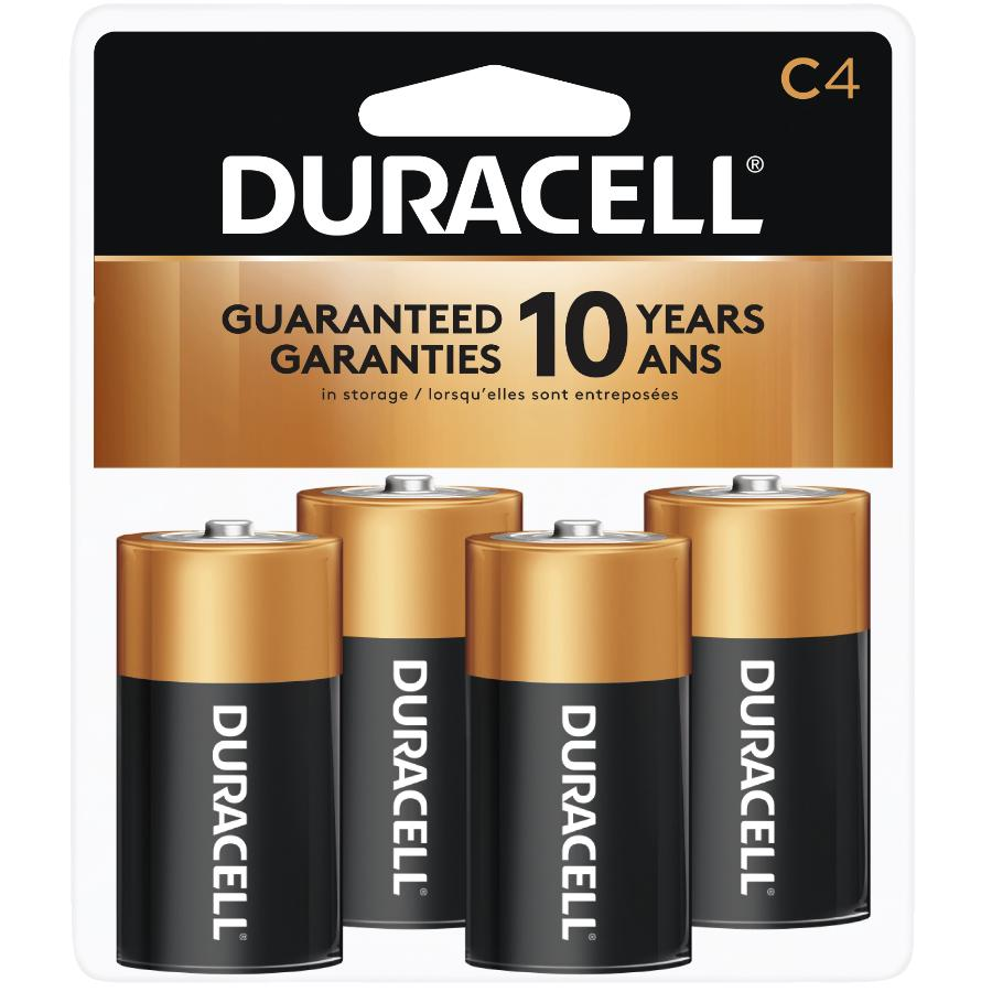Duracell 4 Pack Alkaline C Batteries