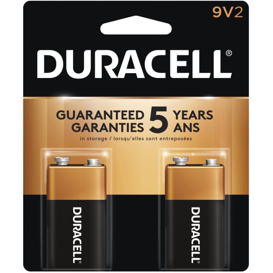 Duracell: 2 Pack Alkaline 9 Volt Batteries