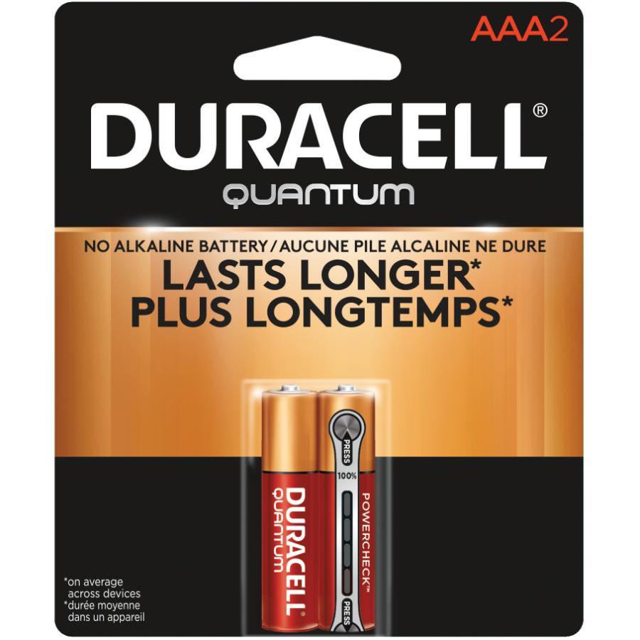 DURACELL 2 Pack Quantum Alkaline AAA Batteries