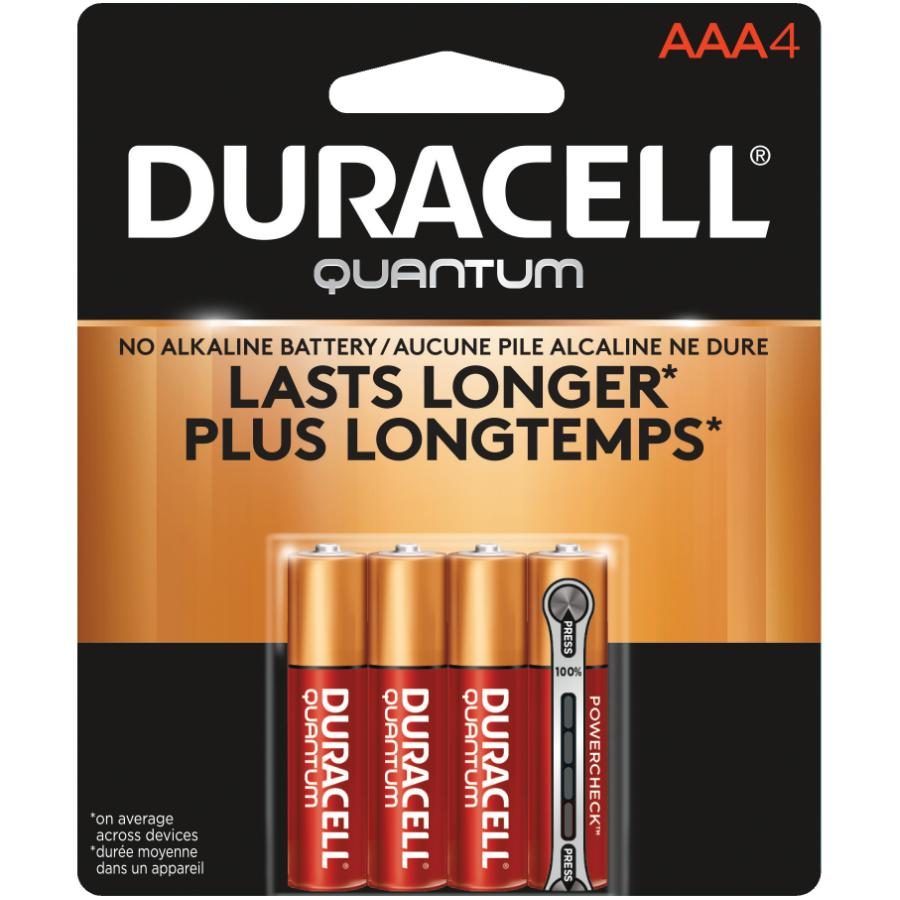 DURACELL 4 Pack Quantum Alkaline AAA Batteries