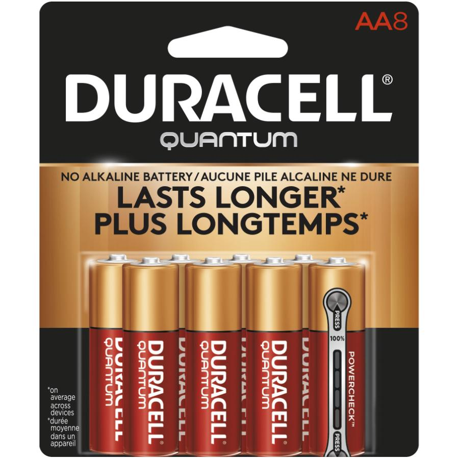 DURACELL 8 Pack Quantum Alkaline AA Batteries