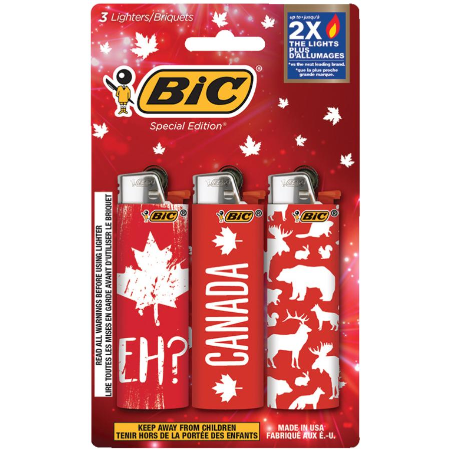 Bic 3 Pack Canada Child-Guard Disposable Lighters