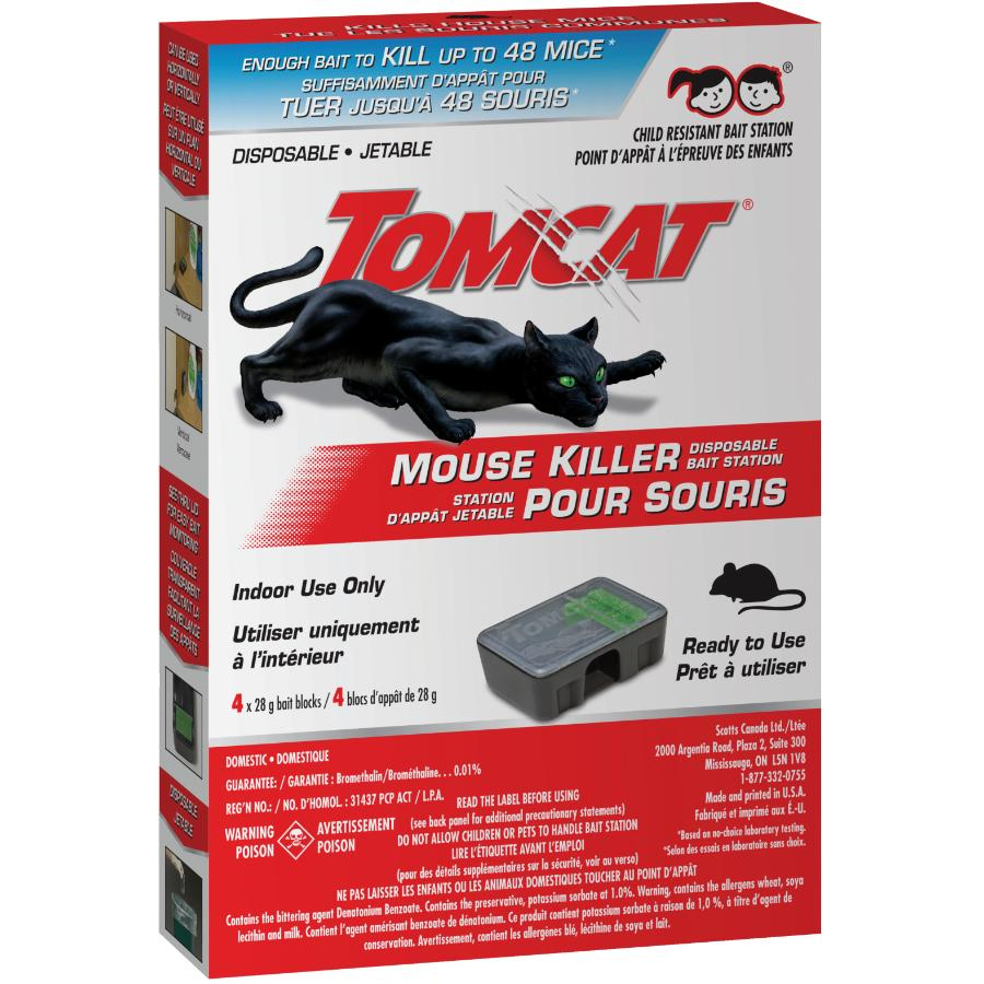 Tomcat: 4 Pack Disposable Mouse Bait Stations
