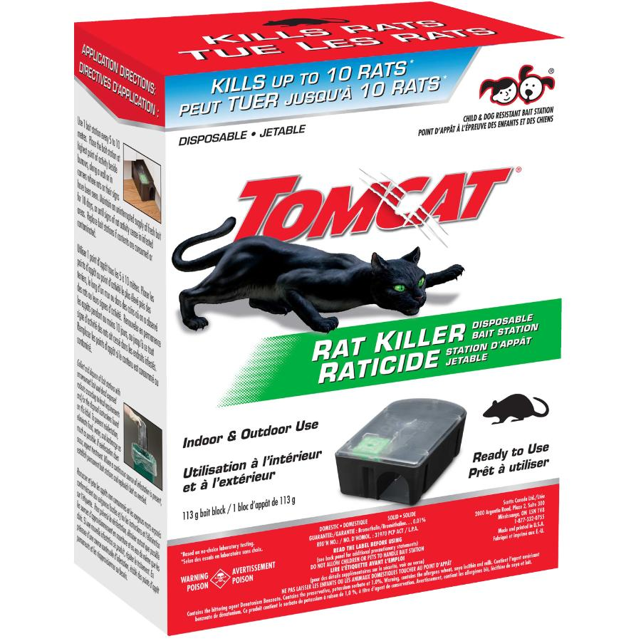 Tomcat: Disposable Rat Bait, with Station