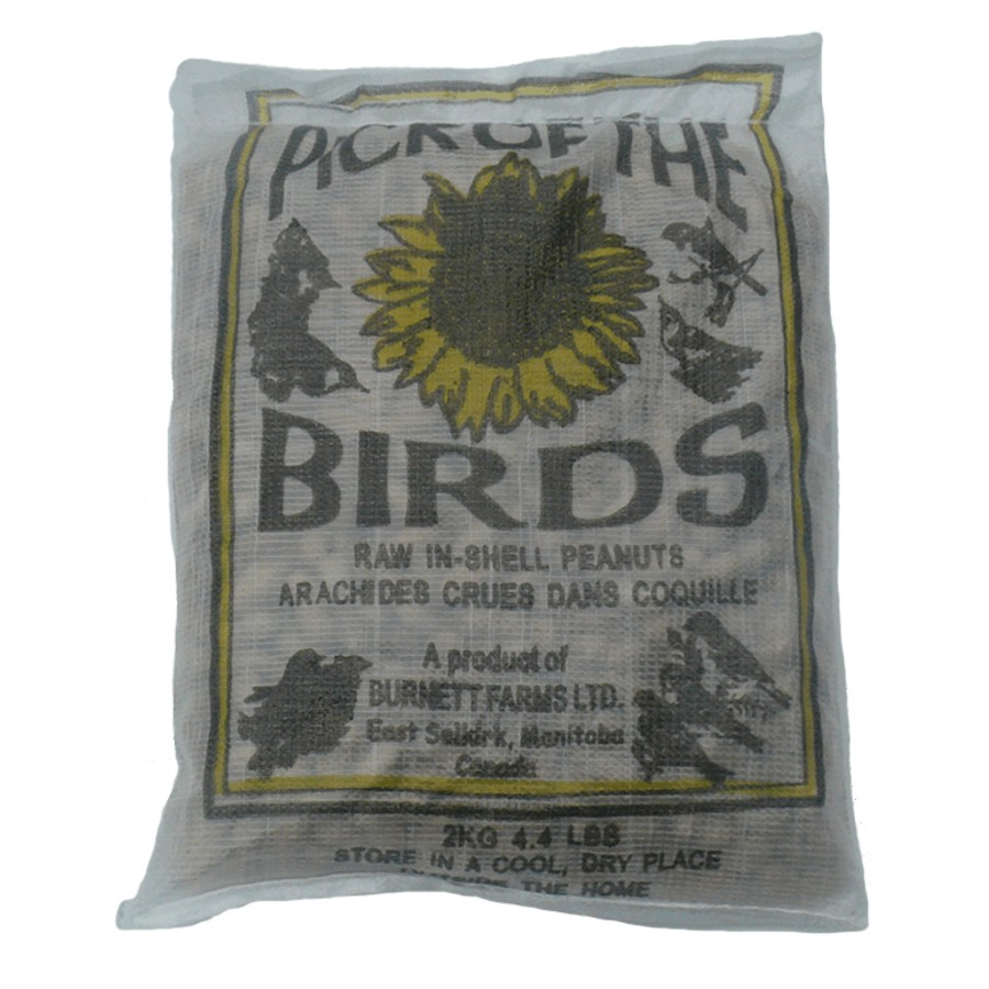 Pick Of The Birds 2kg Peanuts In Shell Bird Food