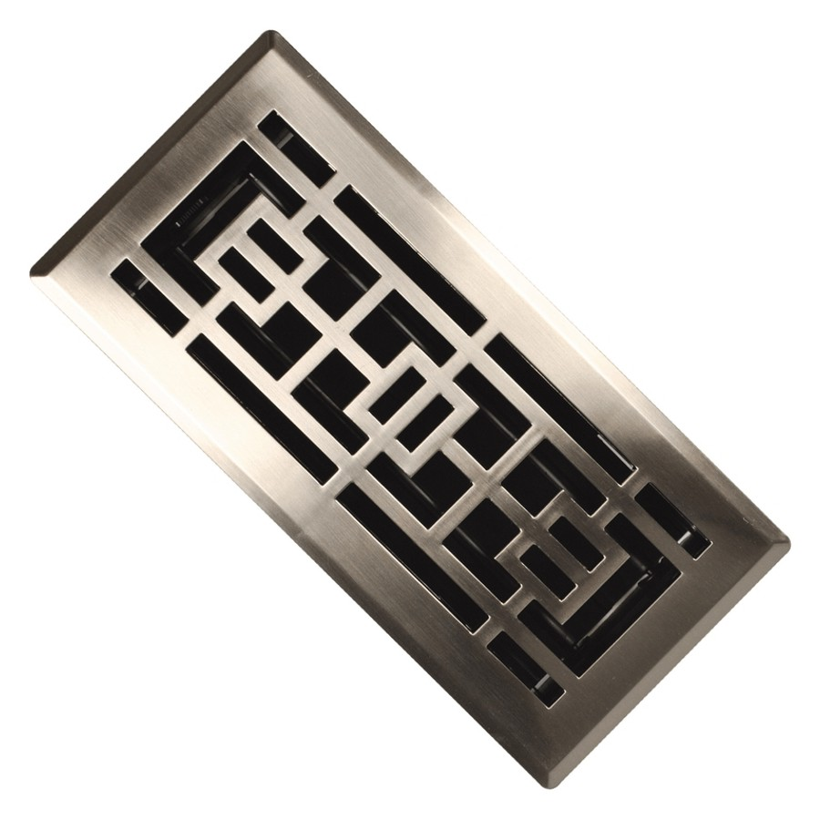 """IMPERIAL MANUFACTURING: 4"""" x 10"""" Satin Nickel ABS Floor Diffuser"""
