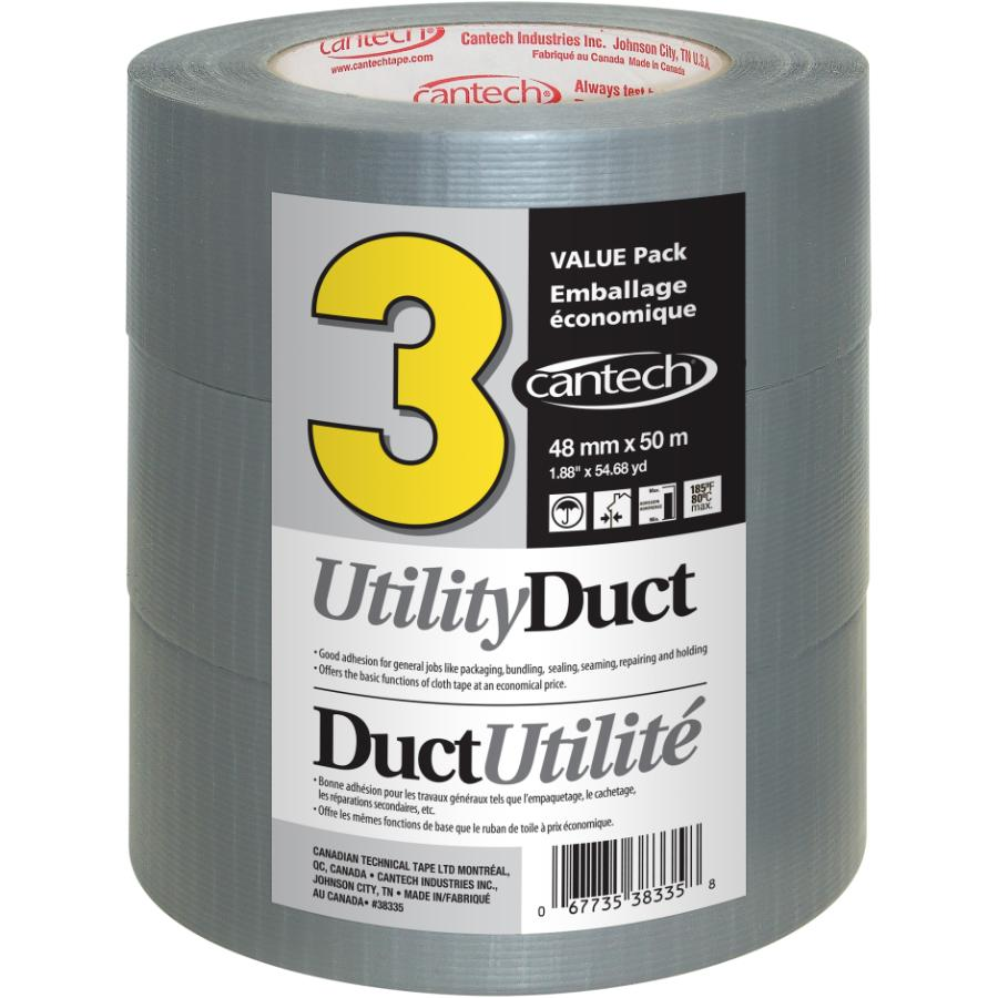 Cantech Utility Duct Tape 48mm x 50M - 3 Pack