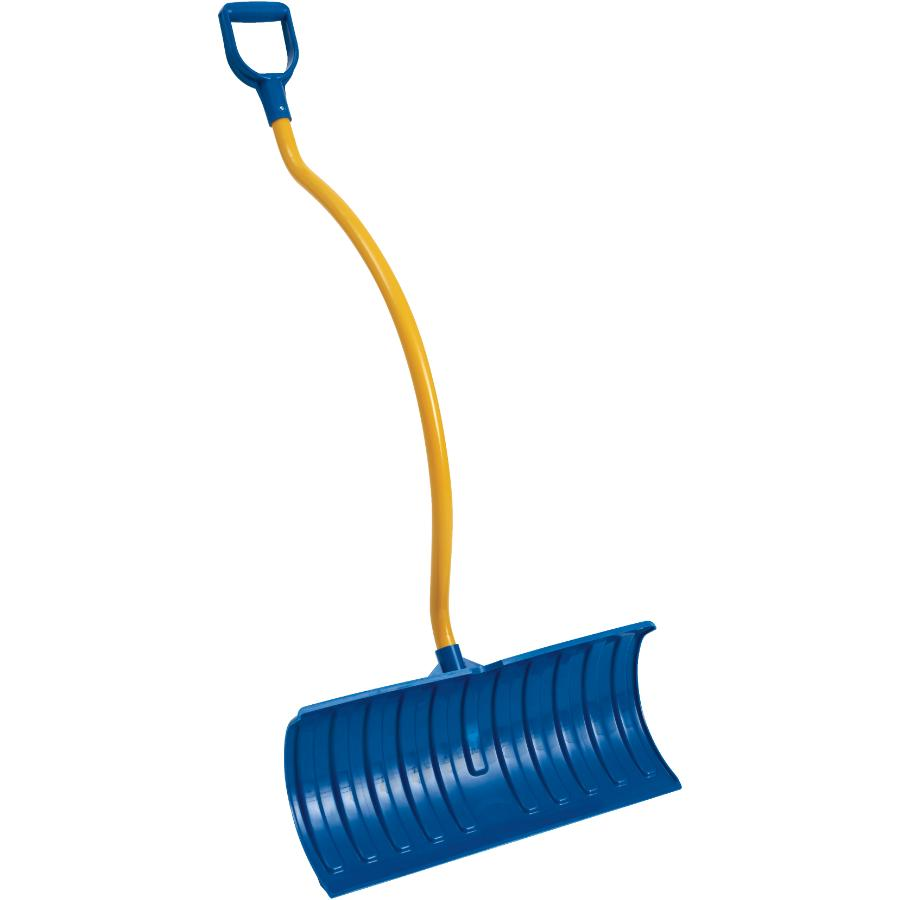 """Snow Mover 26"""" Poly Blade Snow Pusher, with Ergonomic Aluminum Handle"""