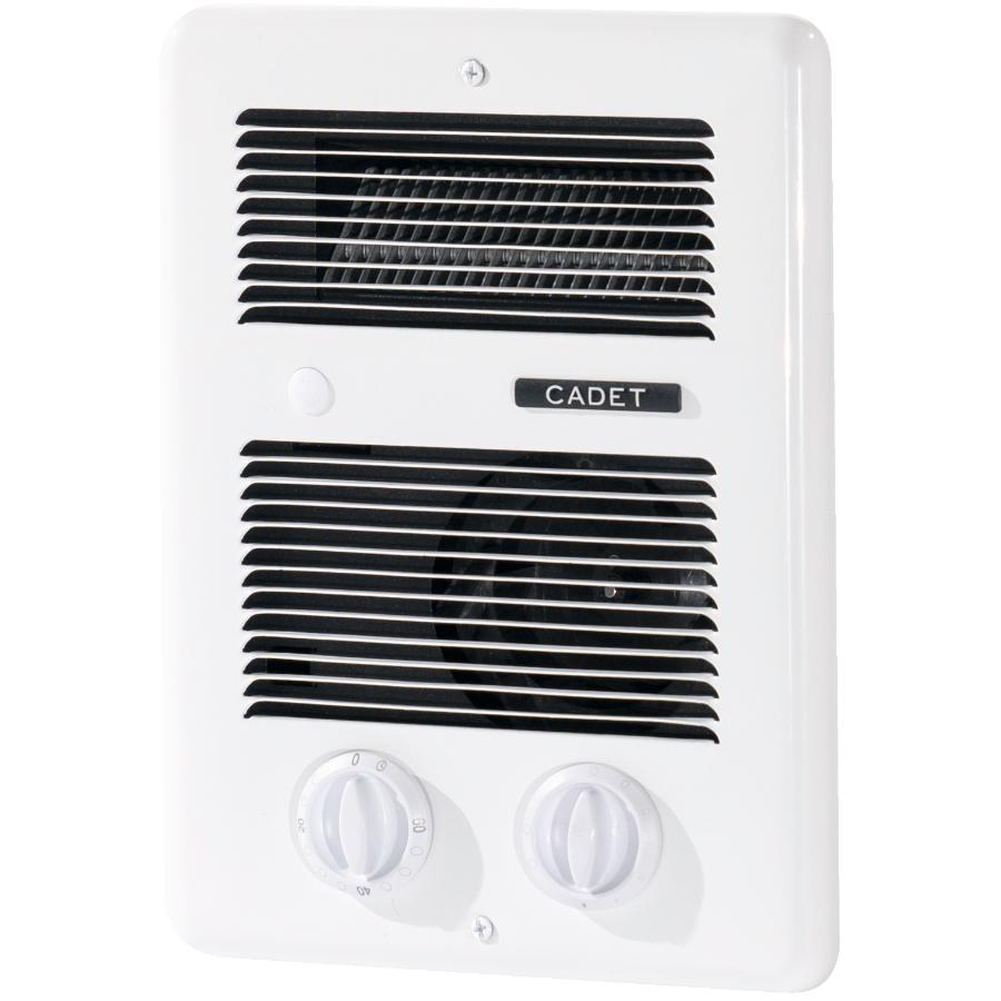 Cadet Com-Pak 240 Volt 1300 Watt White Bathroom Fan Forced Wall Heater