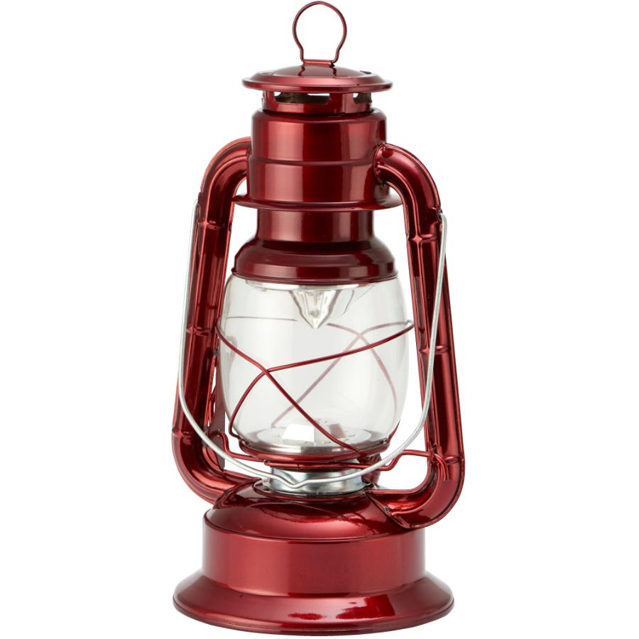 Koppers Home Battery Operated Hurricane Red Metal LED Lantern