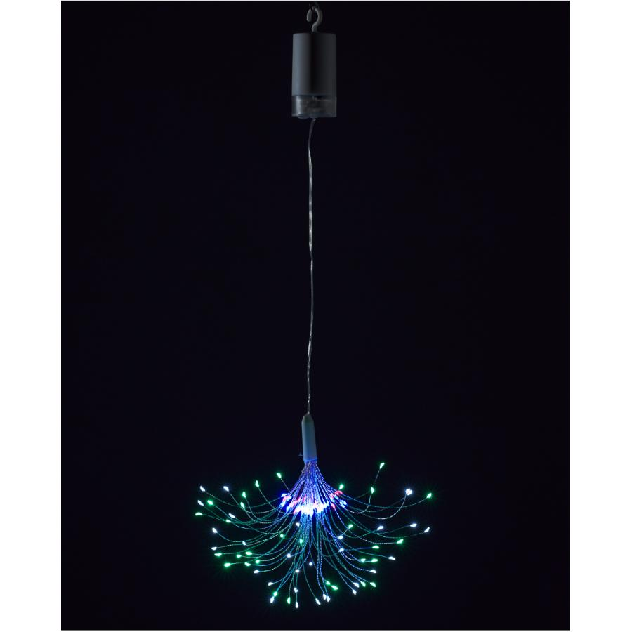 Instyle Holiday Battery Operated Indoor/Outdoor Hanging Starburst LED Dot Light, with Remote