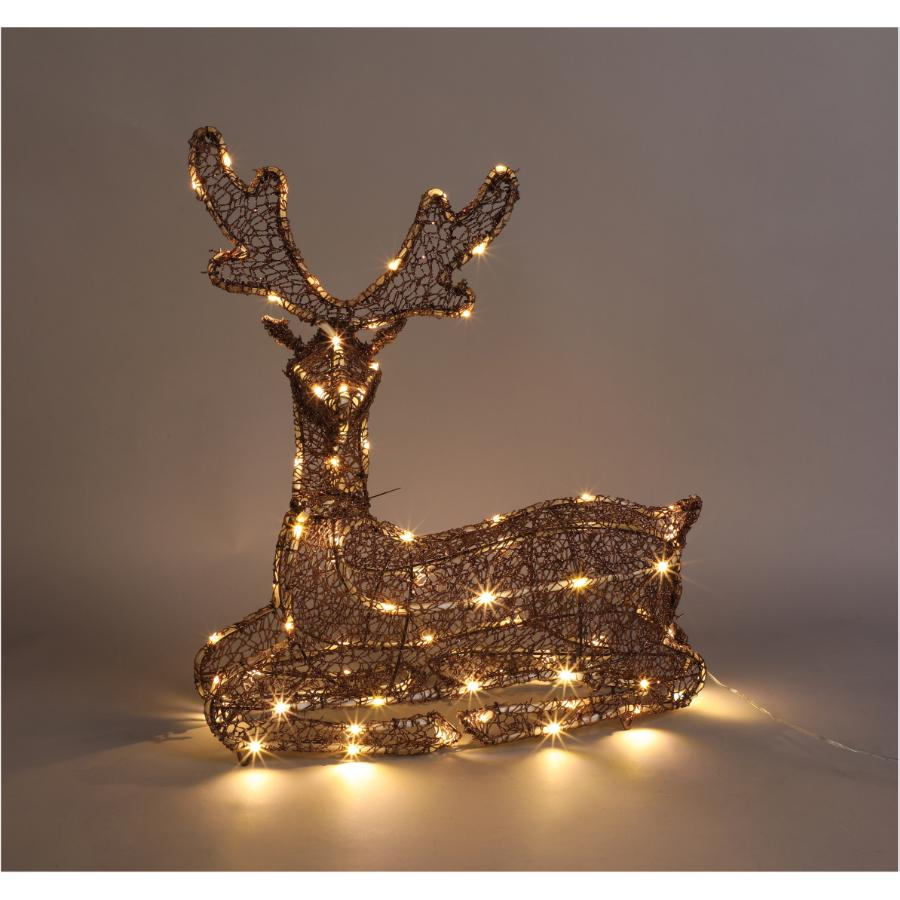 "Instyle Holiday 22"" Warm White Laying Deer Lit Frame"
