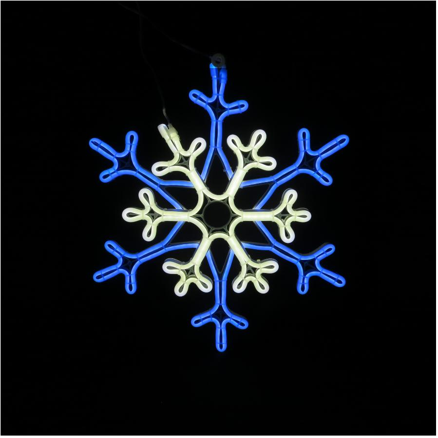 "Instyle Holiday 17"" Indoor/Outdoor Neon Snowflake Motif, with Clear Change Lights"