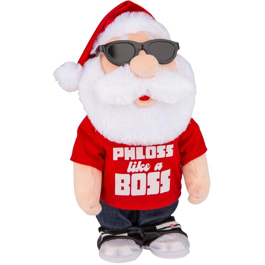 Gemmy Plush Animated Flossing Santa Figure