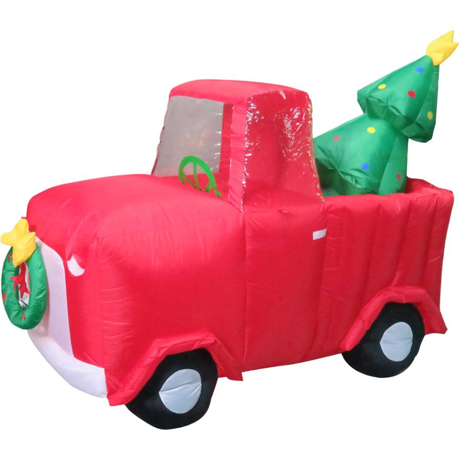 Instyle Holiday 5' Truck Outdoor Airblown Inflatable Figure, with Tree