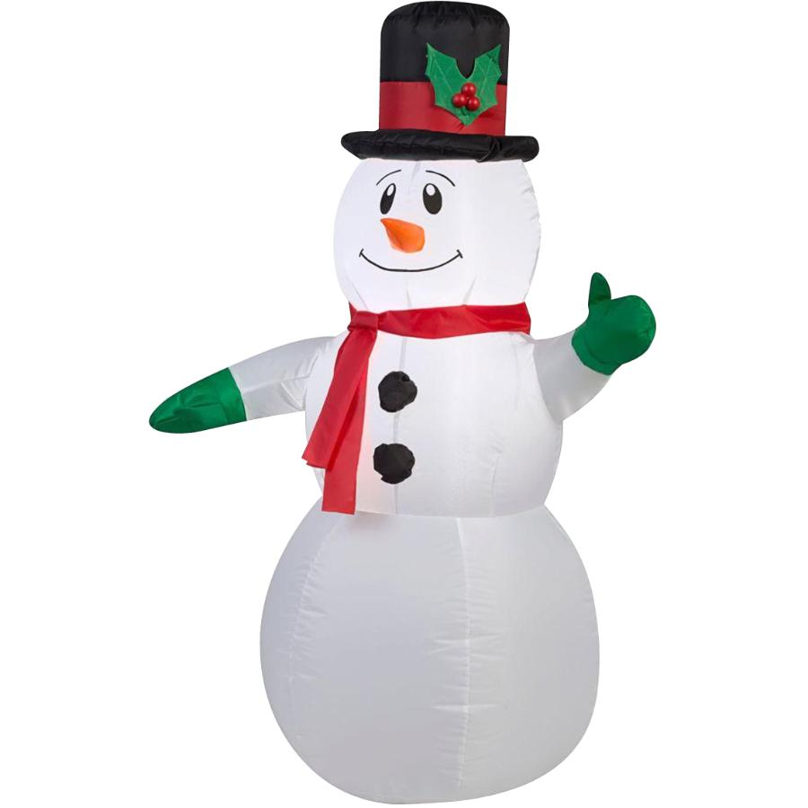 Danson Decor 4' Outdoor Inflatable Airblown Snowman, with Hat