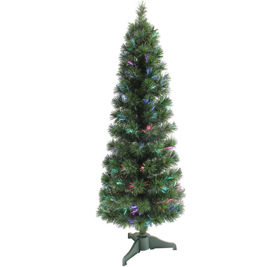 Instyle Holiday 5' Slim Fibre Optic Cashmere Tree, with Colour Changing LED Lights