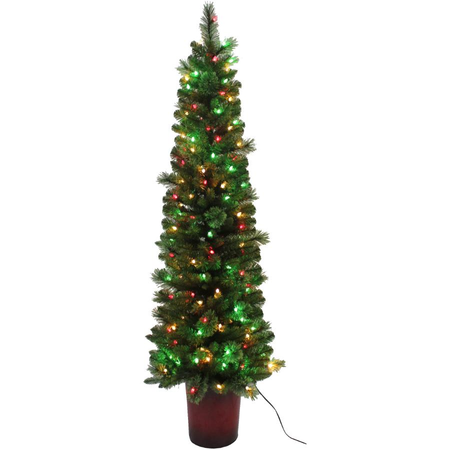 Instyle Holiday 6' Potted Hendrix Tree, with 150 Colour Changing LED Lights