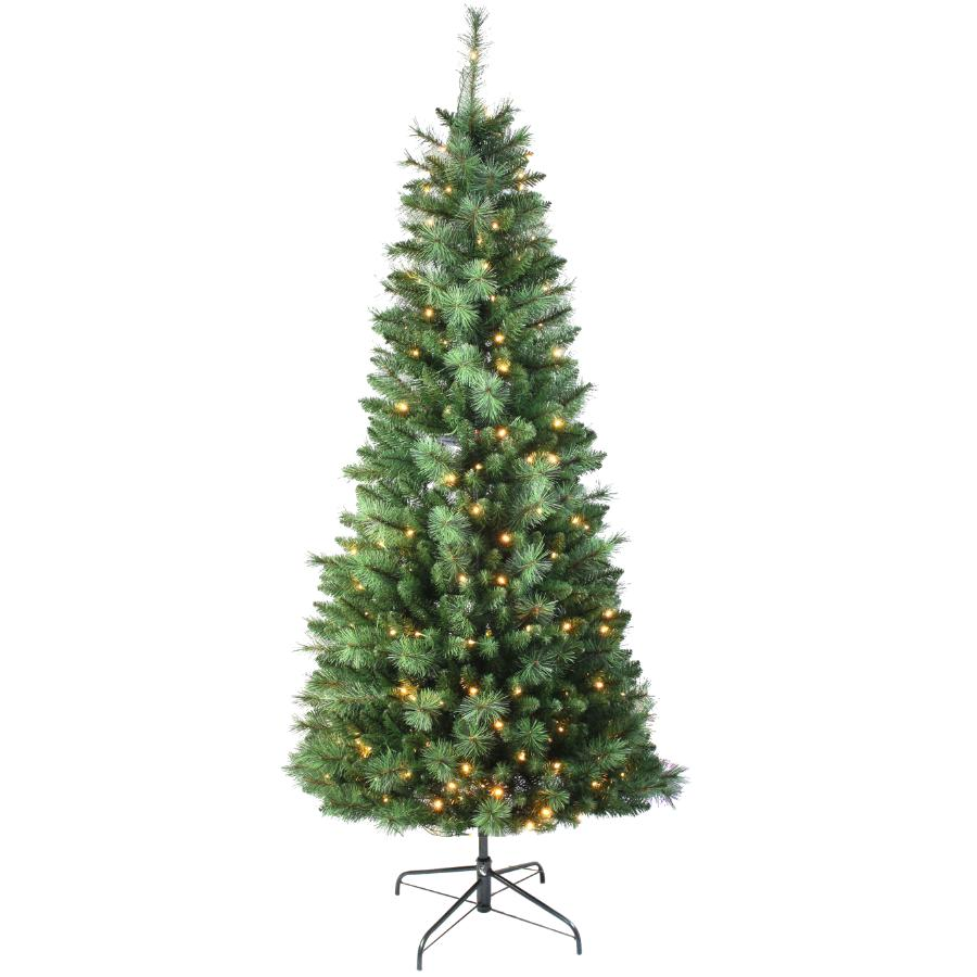 Instyle Holiday 6.5' Easy Up Scotch Pine Christmas Tree, with 200 Warm White LED Lights and Storage Bag