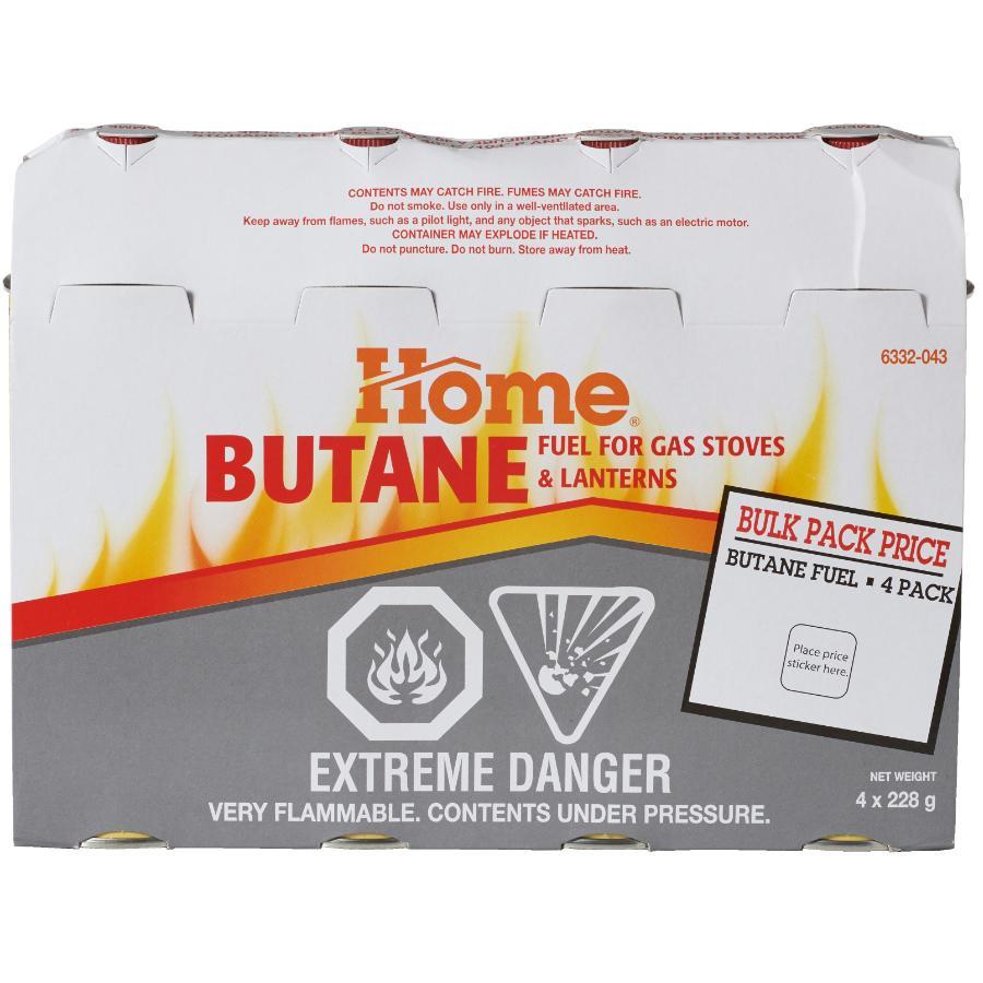 Home 4 Pack 228g Butane Fuel