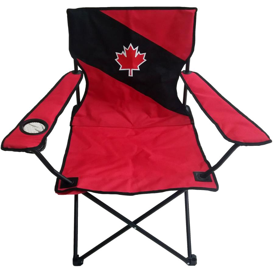 River Trail Adult Red/Black Canada Day Camp Chair