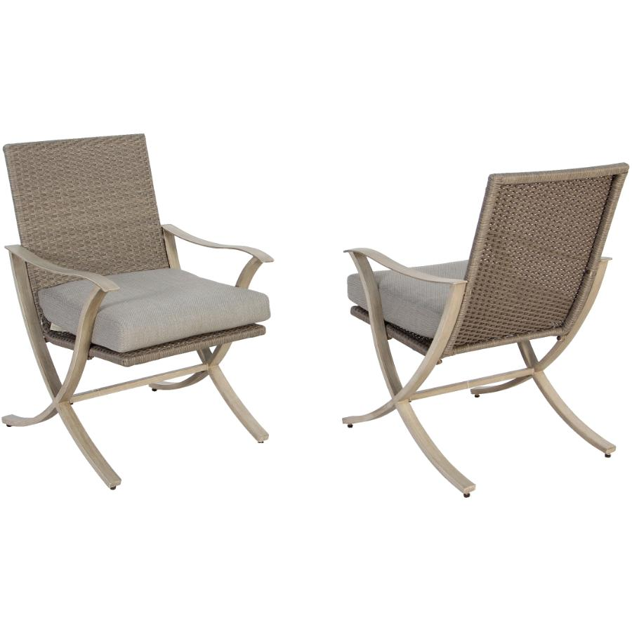 Instyle Outdoor 2 Pack Grand Bay Wicker Dining Chairs, with Cushions
