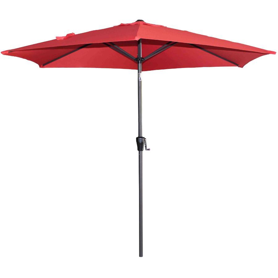 Instyle Outdoor 9' Cherry Red Tilt and Crank Market Umbrella