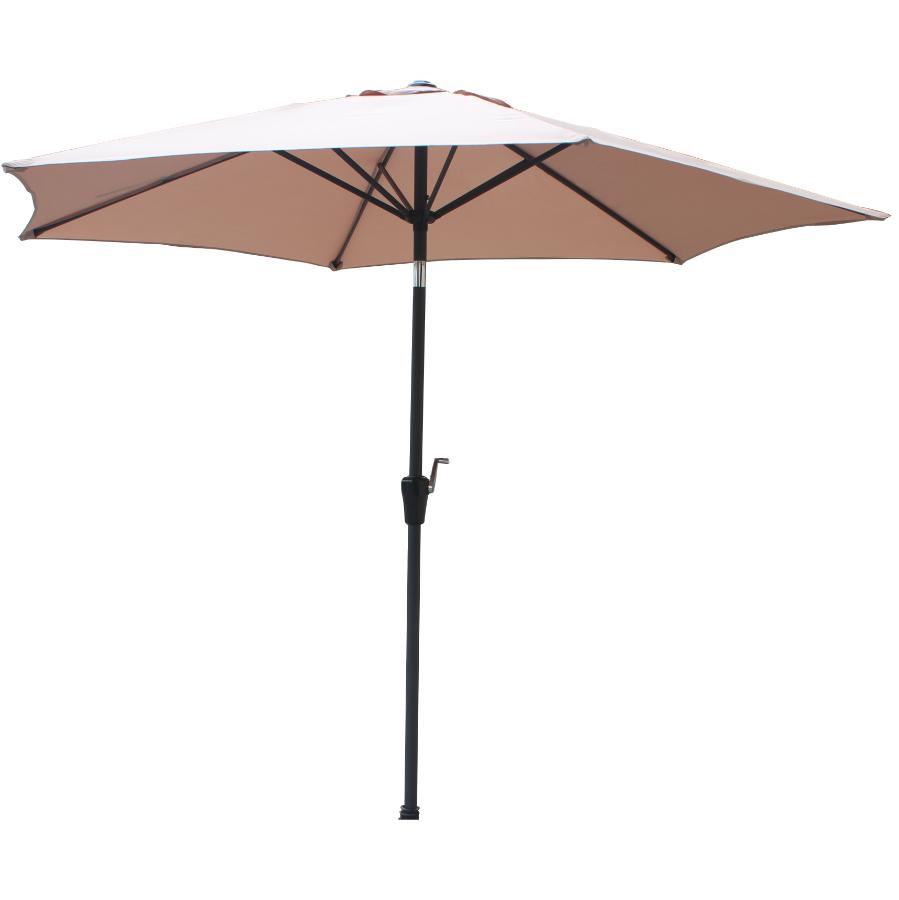 Instyle Outdoor 9' Taupe Tilt and Crank Market Umbrella