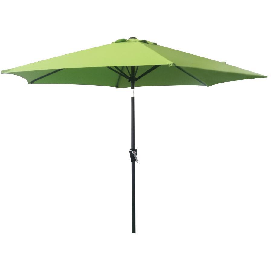Instyle Outdoor 9' Greenery Tilt and Crank Market Umbrella