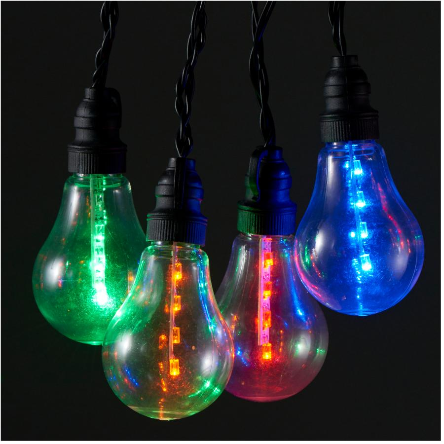 Instyle Holiday 10 LED A19 Battery Operated Multi Colour Light Set