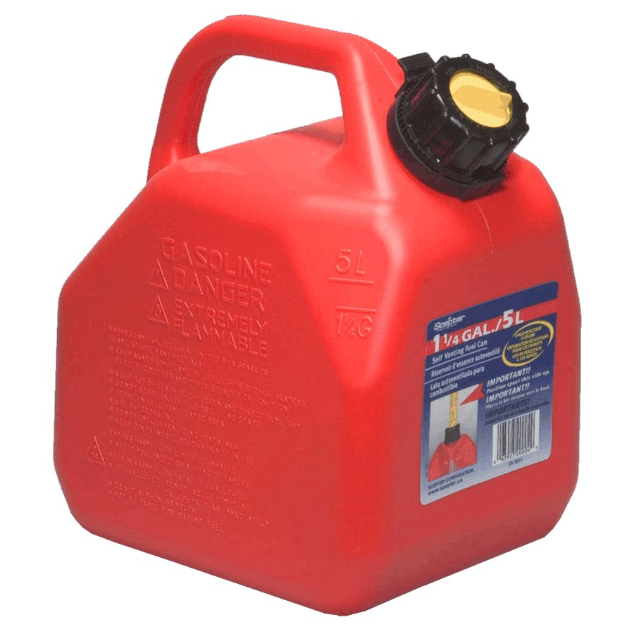 Scepter 5L Plastic Jerry Gas Can