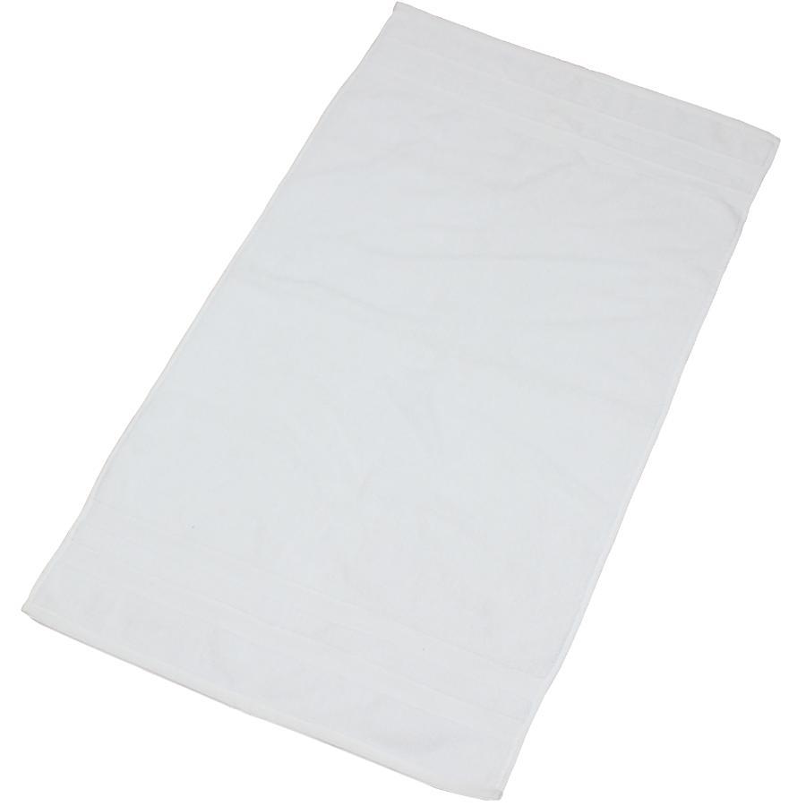 "Fab Styles 20"" x 36"" Camelot White Cotton Bath Mat"