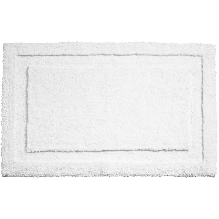 "Interdesign 21"" x 34"" White Microfiber Polyester Bath Mat"