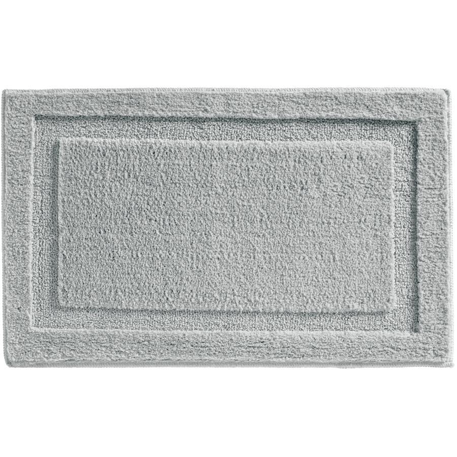 "Interdesign 21"" x 34"" Grey Microfiber Polyester Bath Mat"